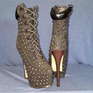 Sexy Studded Boots - Size 7.5